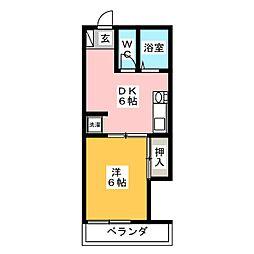 ラフォーレ岐阜[2階]の間取り