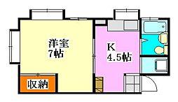 シティハウス津田沼[3階]の間取り
