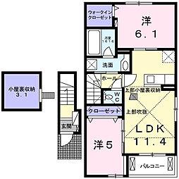フォルシアI[1階]の間取り
