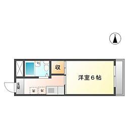 アソシエ島田[3階]の間取り