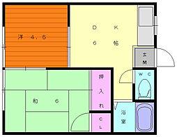 吉住アパート[2階]の間取り