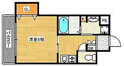 プレサンスフジ[3階]の間取り