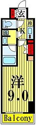 ARTECASA Alivie TOKYO EAST[107号室]の間取り
