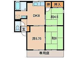 ジョビアル松本[1階]の間取り
