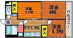 セントエルモ門田文化町[2階]の間取り