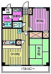 西川口パインマンションII[302号室]の間取り