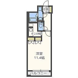 カイセイ阿波座[5階]の間取り