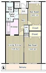 フローラコート[1階]の間取り