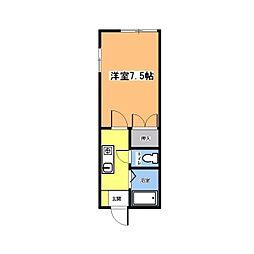 スカイメゾーンミヤコ[2階]の間取り