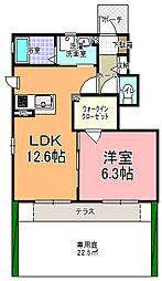 ガーデンコート・ルネサンス B棟[103号室]の間取り