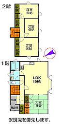 JR千歳線 北広島駅 バス6分 高台町5丁目下車 徒歩2分 4LDKの間取り
