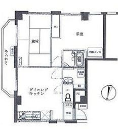 神奈川県横浜市南区山谷の賃貸マンションの間取り
