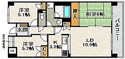 宝塚ロジュマン[6階]の間取り