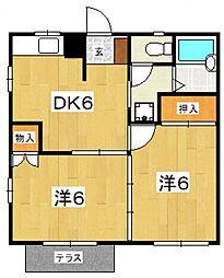 フローラルマンション[102号室号室]の間取り