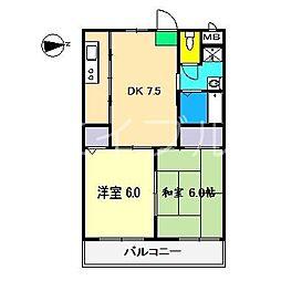 ルミエールII[3階]の間取り