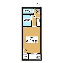 サンシャイン西院[4階]の間取り