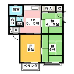 KENTフラッツ[2階]の間取り
