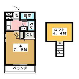 ファニーヒルSAKAE[1階]の間取り