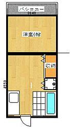 崎村ビル[308号室]の間取り