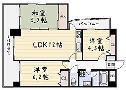 ラフィーネ小倉[2階]の間取り