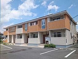 広島県福山市駅家町大字下山守の賃貸アパートの外観