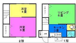 [一戸建] 神奈川県川崎市川崎区藤崎2丁目 の賃貸【/】の間取り