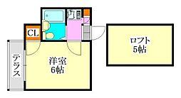 コーポサギヌマ[203号室]の間取り