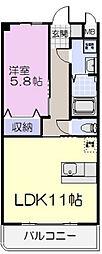 シャンティーク[5階]の間取り