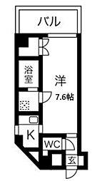 ファイブコート梅田 4階1Kの間取り