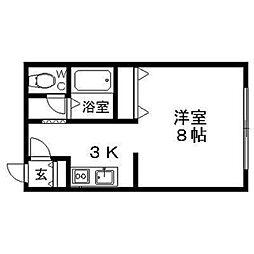 メゾンドミュゲ[1階]の間取り