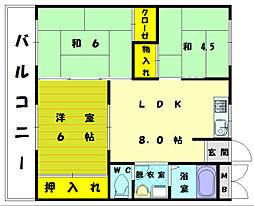 第3堺ビル[4階]の間取り