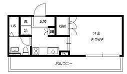 B CITY APARTMENT TACHIKAWA[5階]の間取り