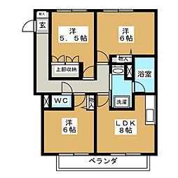 アーバンハイツ八事八幡山[3階]の間取り