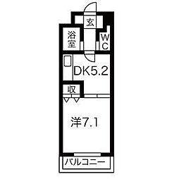 南6条タッセイビル[2階]の間取り