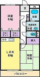 セザンヌ千塚[1階]の間取り