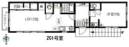 Gハウス[201号室]の間取り