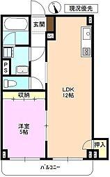 JR北陸新幹線 上田駅 徒歩21分の賃貸マンション 2階1LDKの間取り