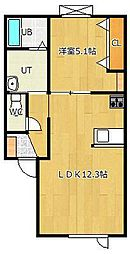 高栄東町新築物件[1-B号室]の間取り
