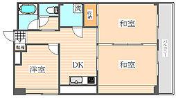 トーカン福岡第2キャステール[9階]の間取り
