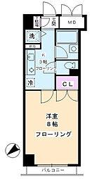 クレール目黒[6階]の間取り