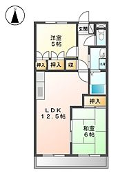 ラ・メゾン・ファミ−ユ[4階]の間取り