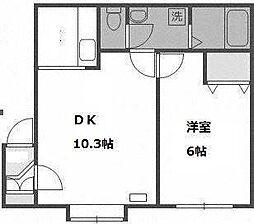 曙1条レモンハイツ[3階]の間取り