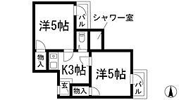 ドムス鉢塚[4階]の間取り