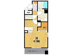 兵庫県伊丹市昆陽3丁目の賃貸マンションの間取り