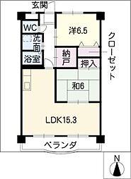 プレステージ27[4階]の間取り