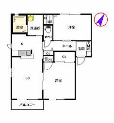 ファンテージ21 F棟[2階]の間取り