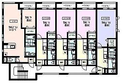 天久保3丁目:コスタ・デル・ソル: 筑波大学大学会館200m 2階1Kの間取り