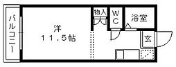 リバティ東伊場[4階]の間取り