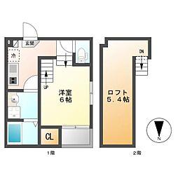 志賀三丁目D・SKHコーポ[1階]の間取り