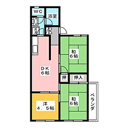 ムラオカハイツ[3階]の間取り